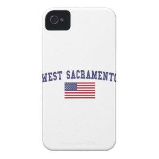 サクラメント西の米国の旗 Case-Mate iPhone 4 ケース