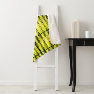 サグアロのサボテンの皮のSherpa毛布 シェルパブランケット