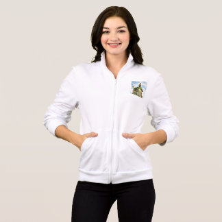 サグアロの女性の基本的なジッパーのフード付きスウェットシャツの鳩