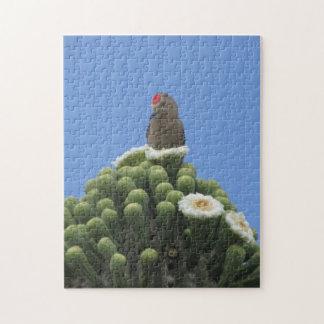サグアロの開花のヒラのキツツキ ジグソーパズル