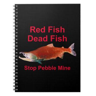 サケ-停止小石鉱山の後 ノートブック