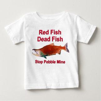 サケ-停止小石鉱山の後 ベビーTシャツ