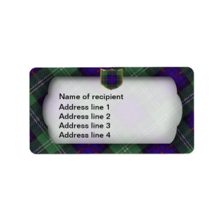 サザランドのスコットランドのタータンチェックの住所シール ラベル