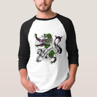 サザランドのタータンチェックのライオン Tシャツ
