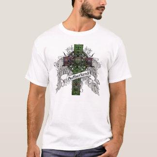 サザランドのタータンチェックの十字 Tシャツ
