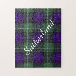 サザランドの一族の格子縞のスコットランド人のタータンチェック ジグソーパズル