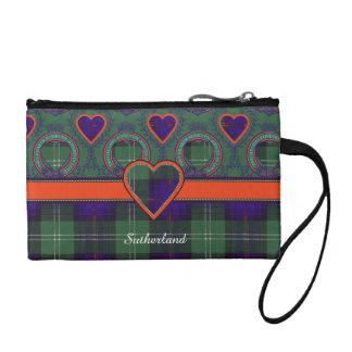 サザランドの格子縞のスコットランド人のタータンチェック コインパース