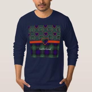 サザランドの格子縞のスコットランド人のタータンチェック Tシャツ