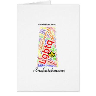 サスカチュワンのプライドLGBTQ カード