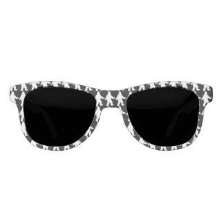 サスカッチのシルエットのサングラス-黒 サングラス