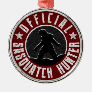 サスカッチのハンターの円のロゴ メタルオーナメント
