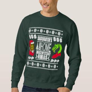 サスカッチの故郷素朴なX-Masのセーター スウェットシャツ