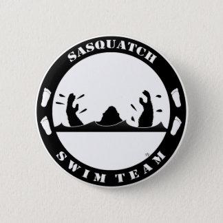 サスカッチの水泳チーム 5.7CM 丸型バッジ