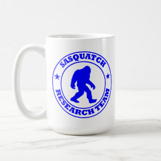 サスカッチの調査チーム-ビッグフットのプロ青いロゴ コーヒーマグカップ