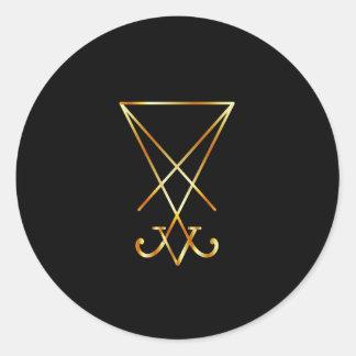 サタニズムのLucifer- Aの記号のSigil ラウンドシール