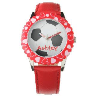 サッカーによってカスタマイズ一流の腕時計 腕時計