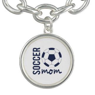 サッカーのお母さんのチャームブレスレット ブレスレット