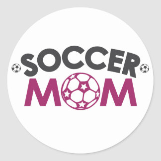 サッカーのお母さん ラウンドシール