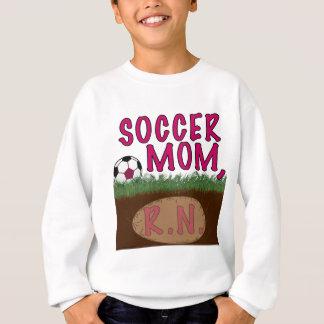 サッカーのお母さんRN (ピンク) スウェットシャツ