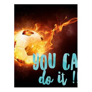 サッカーのやる気を起こさせるで感動的な成功 ポストカード