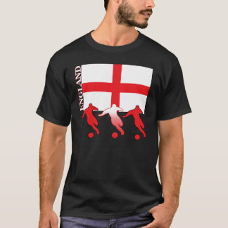 サッカーのイギリスの暗闇のTシャツ Tシャツ