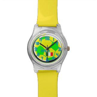 サッカーのイタリアンな旗およびカスタマイズ可能な一流のイタリア 腕時計