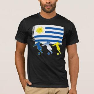 サッカーのウルグアイの暗闇のTシャツ Tシャツ