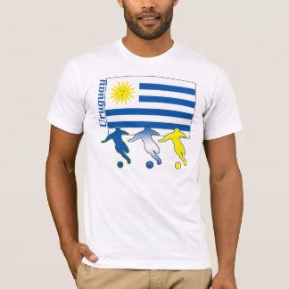 サッカーのウルグアイの軽いTシャツ Tシャツ