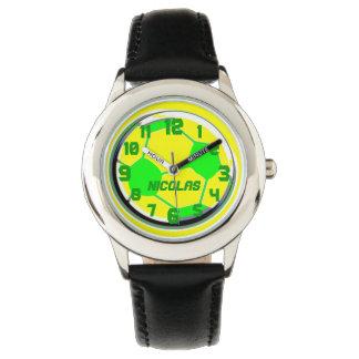 サッカーのカスタマイズ可能な一流のニコラスの子供 腕時計