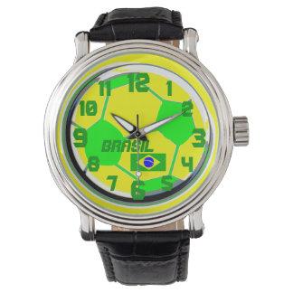 サッカーのカスタマイズ可能な旗および一流のブラジル 腕時計
