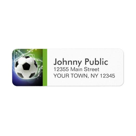 サッカーのカスタムの宛名ラベル 返信用宛名ラベル