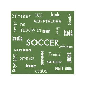 サッカーのキャンバス キャンバスプリント