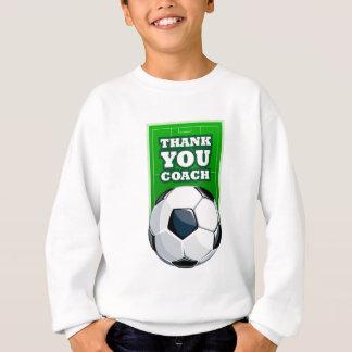 サッカーのコーチありがとう スウェットシャツ