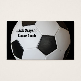 サッカーのコーチの名刺 名刺