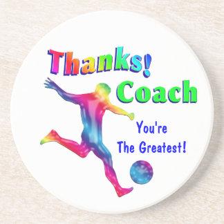 サッカーのコーチはコースター感謝していしています コースター