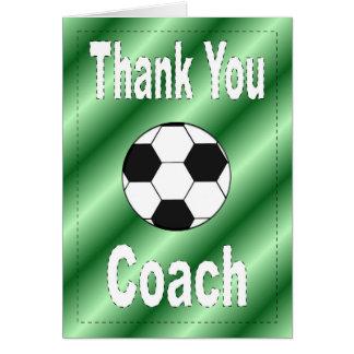 サッカーのコーチカードありがとう カード