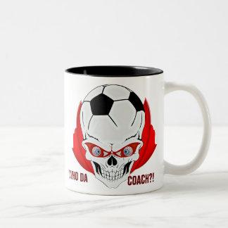 サッカーのコーチ ツートーンマグカップ
