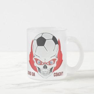 サッカーのコーチ フロストグラスマグカップ