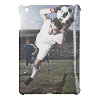 サッカーのゴールキーパーの伝染性のサッカーボール iPad MINI CASE