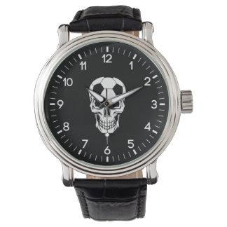 サッカーのスカル 腕時計
