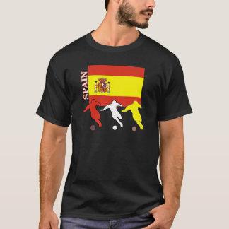 サッカーのスペインの暗闇のTシャツ Tシャツ