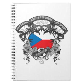 サッカーのチェコスロバキア共和国 ノートブック