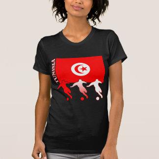 サッカーのチュニジアの暗闇のTシャツ Tシャツ