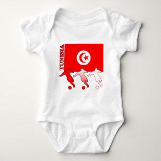 サッカーのチュニジアの軽いTシャツ ベビーボディスーツ