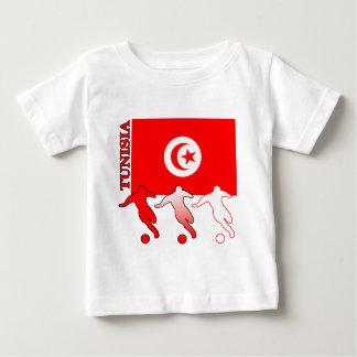 サッカーのチュニジアの軽いTシャツ ベビーTシャツ