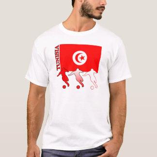サッカーのチュニジアの軽いTシャツ Tシャツ