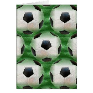 サッカーのテーマの挨拶状 カード