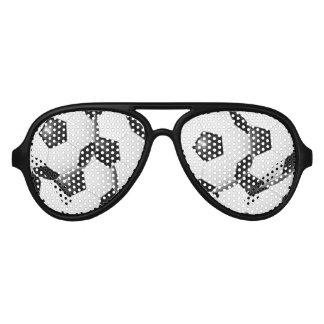 サッカーのデザインの写真のサングラスの陰 アビエーターサングラス