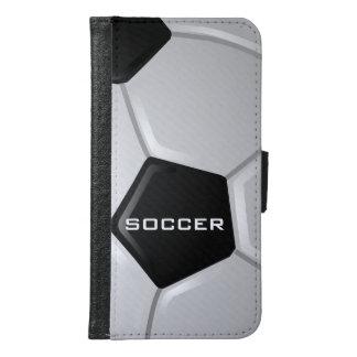 サッカーのデザインのSmartphoneの財布 Galaxy S6 ウォレットケース
