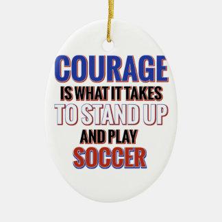 サッカーのデザイン セラミックオーナメント